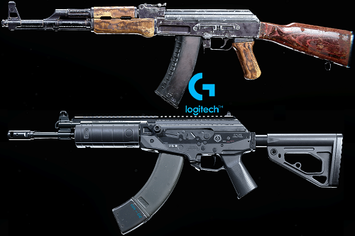 macros for warzone on ak47 and cr56 - logitech