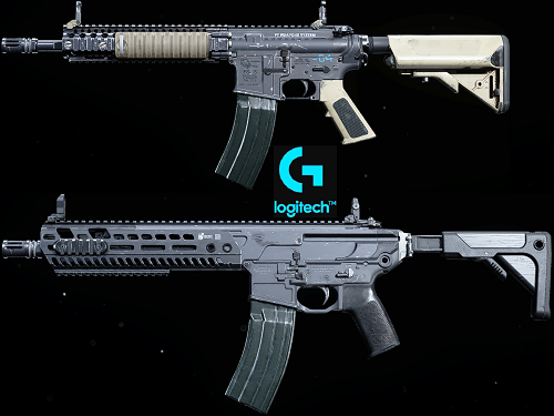 macros for warzone on m4a1 and m13 - logitech